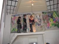 pintura instalada en pared